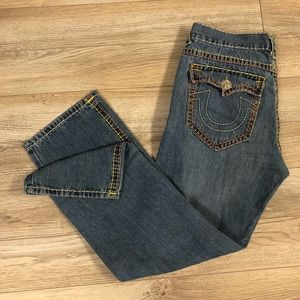 True Religion Yellow/Orange Stitching Joey Super T